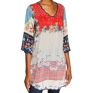 Nwt Johnny Was tunic size S medium welcome